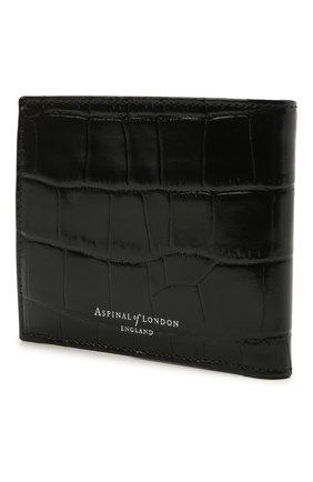 Мужской кожаное портмоне ASPINAL OF LONDON черного цвета, арт. 039-2353_00150000 | Фото 2