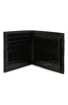 Мужской кожаное портмоне ASPINAL OF LONDON черного цвета, арт. 039-2353_00150000 | Фото 3