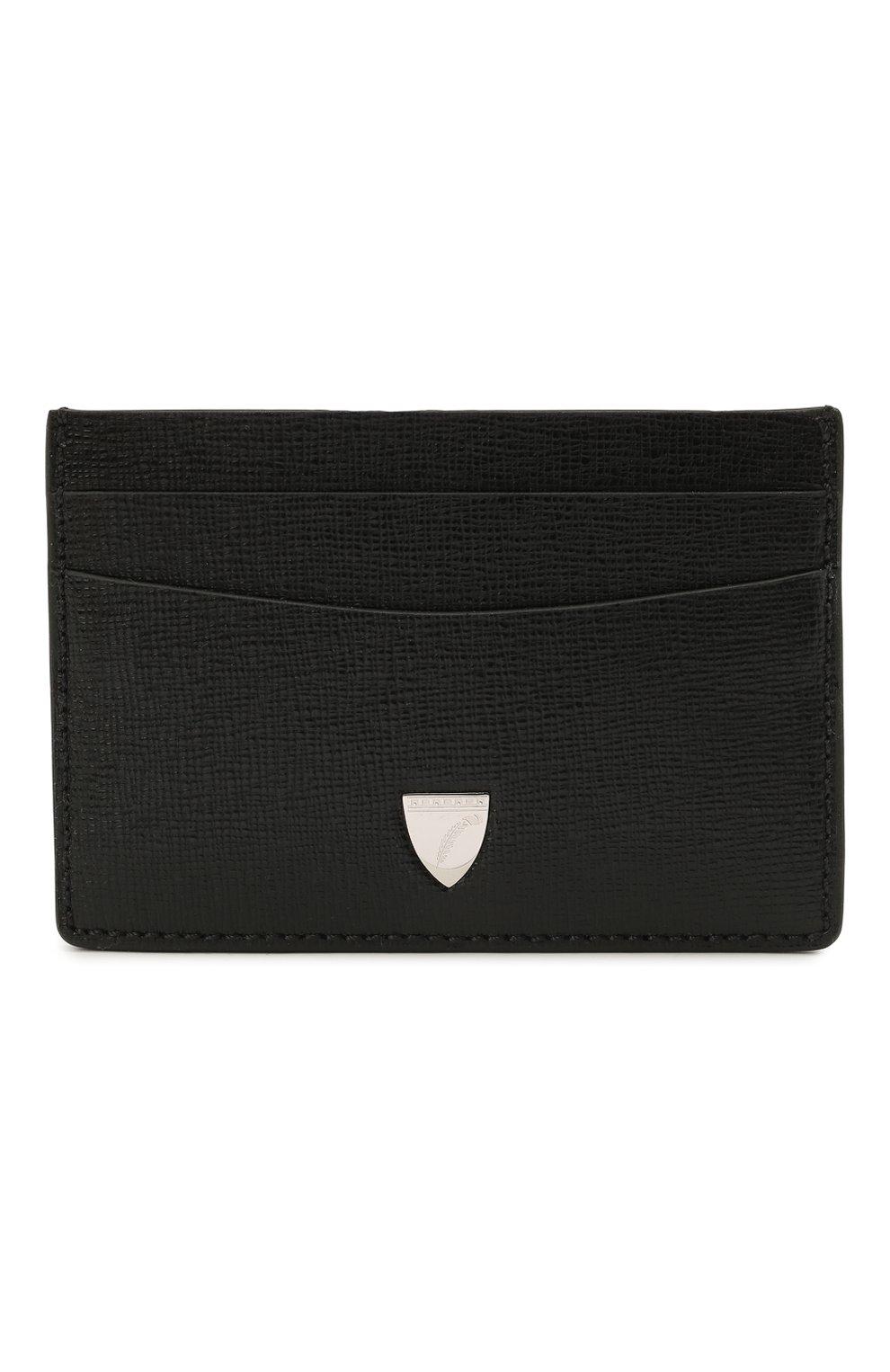 Мужской кожаный футляр для кредитных карт ASPINAL OF LONDON черного цвета, арт. 039-2305_14210000 | Фото 1