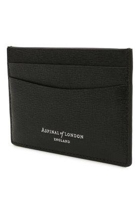 Мужской кожаный футляр для кредитных карт ASPINAL OF LONDON черного цвета, арт. 039-2305_14210000 | Фото 2
