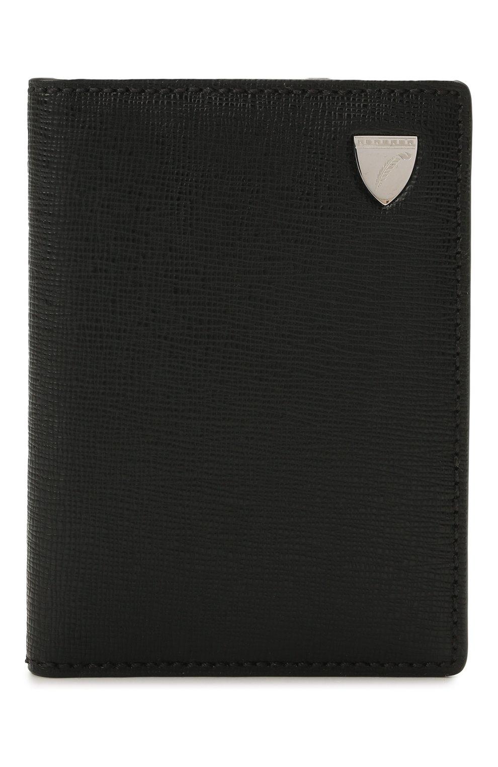 Мужской кожаный футляр для кредитных карт ASPINAL OF LONDON черного цвета, арт. 039-2277_14210000 | Фото 1