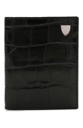 Мужской кожаный футляр для кредитных карт ASPINAL OF LONDON черного цвета, арт. 039-2276_00150000 | Фото 1