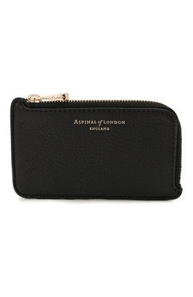 Мужской кожаный кошелек для монет ASPINAL OF LONDON черного цвета, арт. 039-2153_14110000 | Фото 1