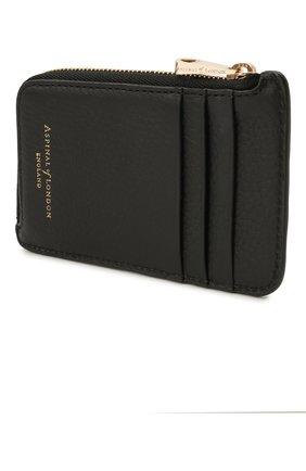 Мужской кожаный кошелек для монет ASPINAL OF LONDON черного цвета, арт. 039-2153_14110000 | Фото 2