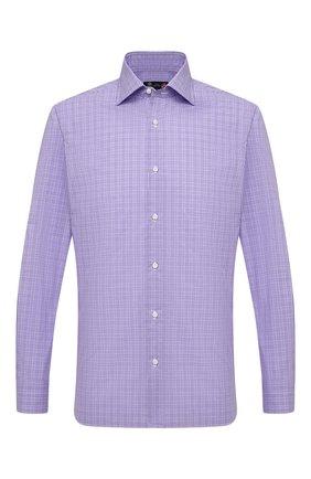 Мужская хлопковая сорочка LUIGI BORRELLI сиреневого цвета, арт. EV08/LUCIAN0/S10011 | Фото 1