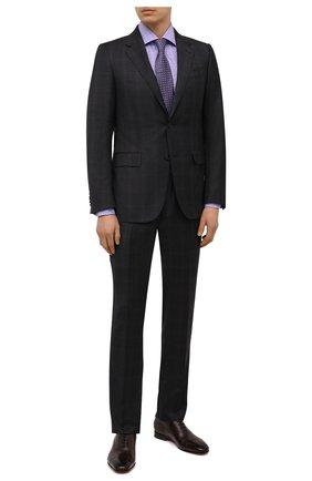 Мужская хлопковая сорочка LUIGI BORRELLI сиреневого цвета, арт. EV08/LUCIAN0/S10011 | Фото 2