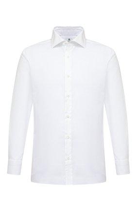 Мужская хлопковая сорочка LUIGI BORRELLI белого цвета, арт. EV08/LUCIAN0/S10420/D0BLE CUFF | Фото 1
