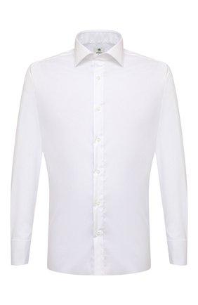 Мужская хлопковая сорочка LUIGI BORRELLI белого цвета, арт. EV08/LUCIAN0/S31028/D0BLE CUFF | Фото 1