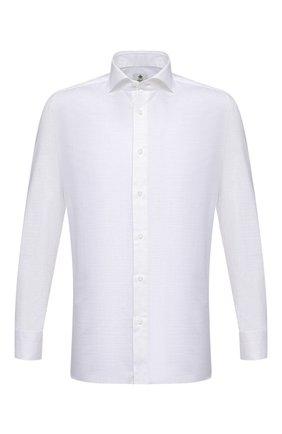 Мужская хлопковая сорочка LUIGI BORRELLI белого цвета, арт. EV08/NAND0/S31166 | Фото 1