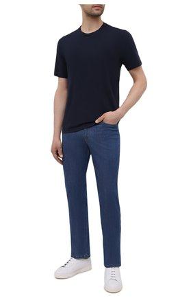 Мужская хлопковая футболка ASPESI темно-синего цвета, арт. S1 A 3107 A335 | Фото 2