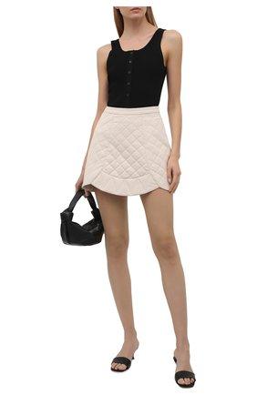 Женская хлопковая юбка RUBAN бежевого цвета, арт. RPS21-5.1.34.10   Фото 2