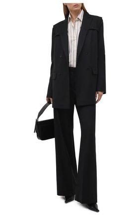Женские шерстяные брюки RUBAN черного цвета, арт. RCSS21–7.1.41.2   Фото 2