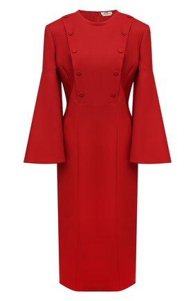 Женское шерстяное платье FENDI красного цвета, арт. FDB591 AC4G   Фото 1