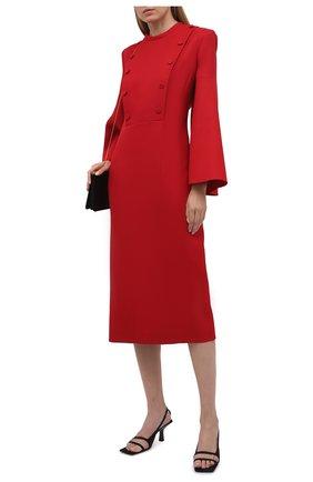 Женское шерстяное платье FENDI красного цвета, арт. FDB591 AC4G   Фото 2