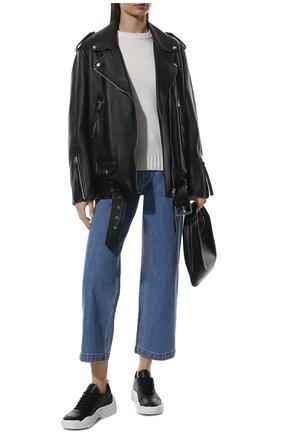 Женские кожаные кроссовки gumboy VALENTINO черного цвета, арт. VW0S0K55/AEQ | Фото 2