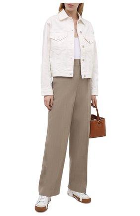 Женские кожаные кеды portofino DOLCE & GABBANA белого цвета, арт. CK1863/A0542 | Фото 2