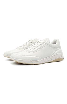 Женские кожаные кроссовки LORO PIANA белого цвета, арт. FAL2804 | Фото 1