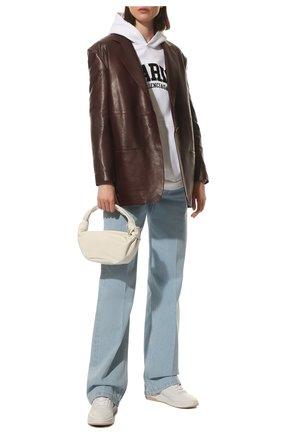 Женские кожаные кроссовки LORO PIANA белого цвета, арт. FAL2804 | Фото 2