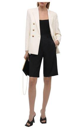 Женские кожаные мюли plissé VERSACE черного цвета, арт. DST592P/DPNA3 | Фото 2 (Подошва: Плоская; Каблук высота: Высокий; Каблук тип: Шпилька; Материал внутренний: Натуральная кожа)