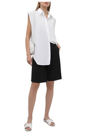 Женские кожаные шлепанцы virtus VERSACE белого цвета, арт. DST612C/DVT2P | Фото 2
