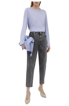 Женский шерстяной пуловер LORO PIANA голубого цвета, арт. FAL6605/VVIC   Фото 2