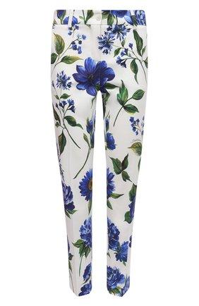 Женские хлопковые брюки DOLCE & GABBANA голубого цвета, арт. I3C26W/GDZAG | Фото 1