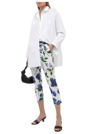 Женские хлопковые брюки DOLCE & GABBANA голубого цвета, арт. I3C26W/GDZAG | Фото 2