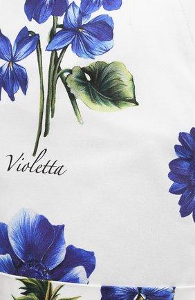 Женские хлопковые шорты DOLCE & GABBANA голубого цвета, арт. I3C27W/GDZAH   Фото 5 (Женское Кросс-КТ: Шорты-одежда; Длина Ж (юбки, платья, шорты): Мини; Материал внешний: Хлопок; Стили: Романтичный)