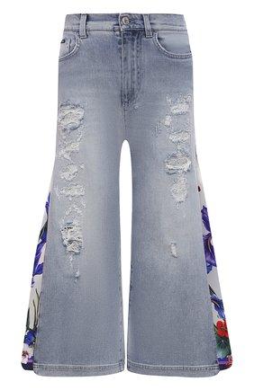 Женские джинсы DOLCE & GABBANA голубого цвета, арт. I3C34W/G902M | Фото 1