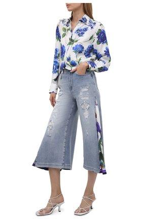 Женские джинсы DOLCE & GABBANA голубого цвета, арт. I3C34W/G902M | Фото 2