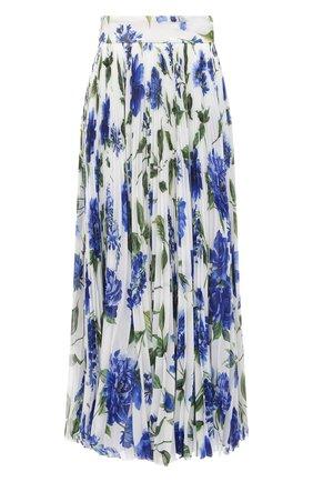 Женская плиссированная юбка DOLCE & GABBANA голубого цвета, арт. I4I84W/GDZAY | Фото 1