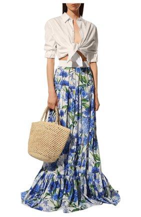 Женская хлопковая юбка DOLCE & GABBANA голубого цвета, арт. I4I85W/GDZAR | Фото 2