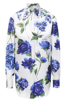 Женская шелковая рубашка DOLCE & GABBANA голубого цвета, арт. I5597W/GDZAF | Фото 1