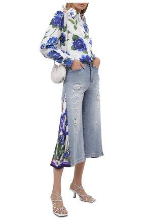 Женская шелковая рубашка DOLCE & GABBANA голубого цвета, арт. I5597W/GDZAF | Фото 2