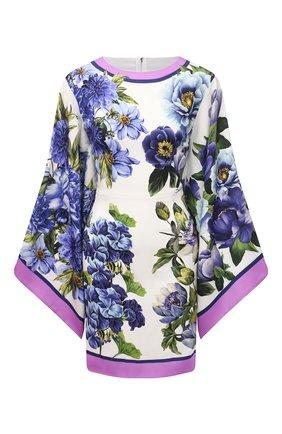 Женское шелковое платье DOLCE & GABBANA синего цвета, арт. I6AE3W/GDZAB | Фото 1