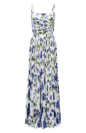 Женское платье DOLCE & GABBANA голубого цвета, арт. I6AE6W/GDZAW | Фото 1