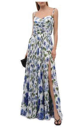 Женское платье DOLCE & GABBANA голубого цвета, арт. I6AE6W/GDZAW | Фото 2