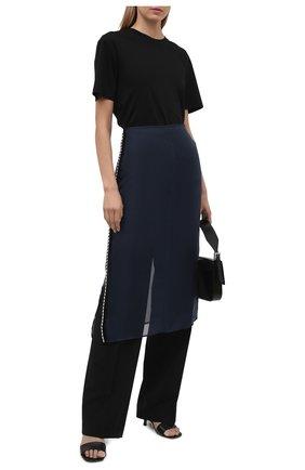 Женская шелковая юбка JIL SANDER синего цвета, арт. JSWS356480-WS282500   Фото 2