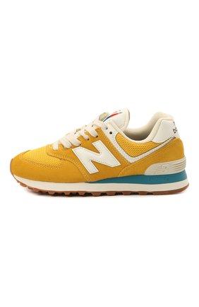 Детские кроссовки 574 vintage brights NEW BALANCE желтого цвета, арт. ML574HB2/D | Фото 2 (Стили: Спорт)