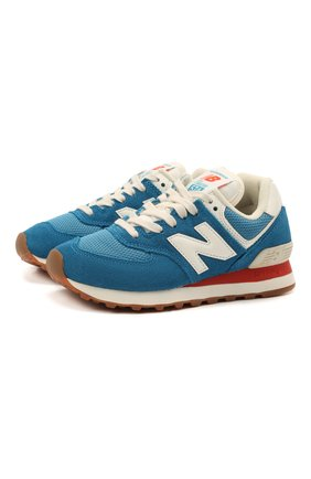 Детские кроссовки 574 vintage brights NEW BALANCE синего цвета, арт. ML574HC2/D   Фото 1