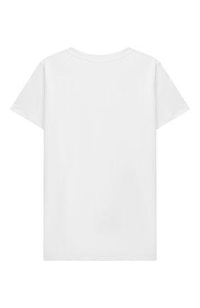 Детская хлопковая футболка BALMAIN белого цвета, арт. 6O8521   Фото 2