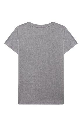 Детская хлопковая футболка BALMAIN серого цвета, арт. 6O8521   Фото 2