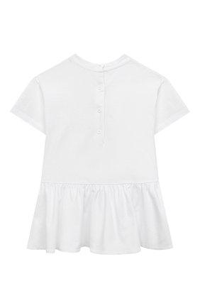 Женский хлопковое платье BALMAIN белого цвета, арт. 6O1861 | Фото 2
