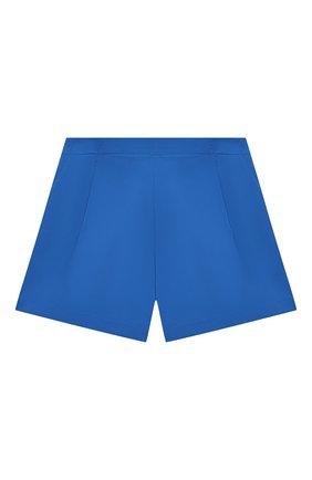 Детские хлопковые шорты EMILIO PUCCI синего цвета, арт. 9O6069 | Фото 1