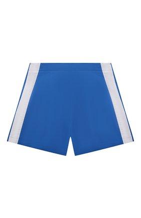Детские хлопковые шорты EMILIO PUCCI синего цвета, арт. 9O6069 | Фото 2