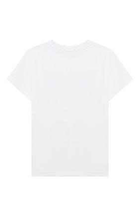 Детская хлопковая футболка GIVENCHY белого цвета, арт. H25251   Фото 2