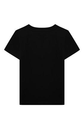 Детская хлопковая футболка GIVENCHY черного цвета, арт. H25251 | Фото 2