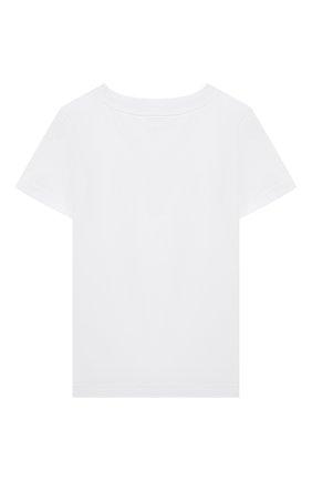 Детская хлопковая футболка GIVENCHY белого цвета, арт. H25253 | Фото 2