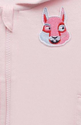 Детский комплект из трех предметов MARC JACOBS (THE) розового цвета, арт. W98132 | Фото 5