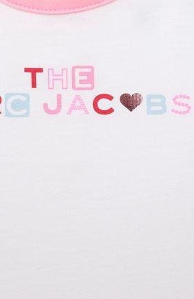 Детский комплект из трех предметов MARC JACOBS (THE) розового цвета, арт. W98132 | Фото 8